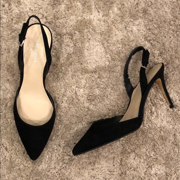 Marc Fisher Davon Suede Slingback Pumps